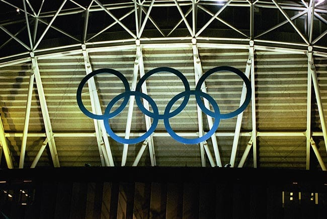 Olympic Rings on building
