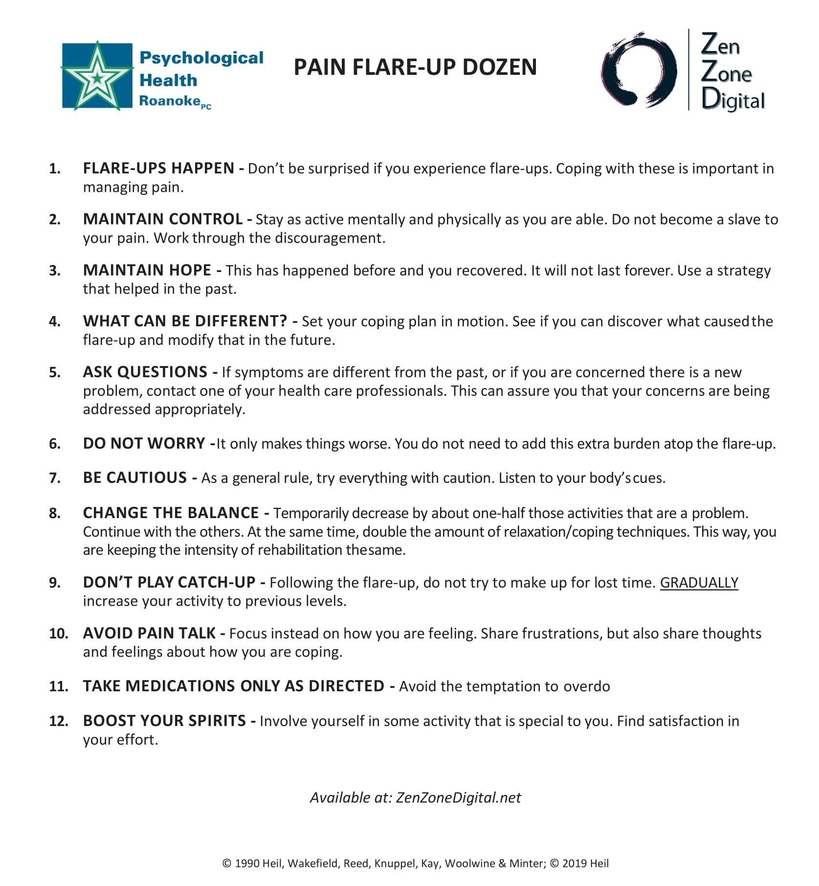 Pain Flare Ups and 12 tips for coping